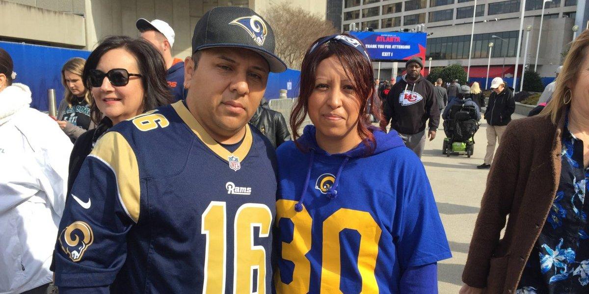 Desde Atlanta: A dos días del Super Bowl, ¿dónde están los fanáticos de los Rams de Los Ángeles?
