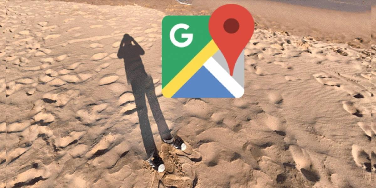 Google Maps parece haber capturado a un hombre invisible en una fotografía