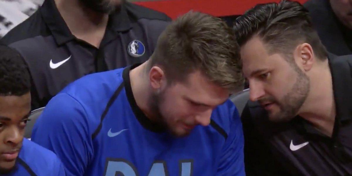 La reacción de Luka Doncic cuando le dicen que no jugará en el All Stars Game