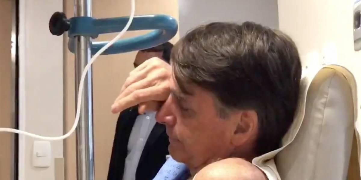 Internado, Bolsonaro chora ao ouvir 'Evidências'; veja o vídeo