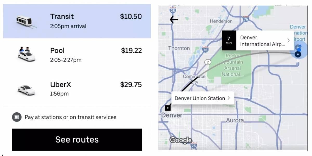 Uber estrena novedosa función que entrega datos sobre el transporte público