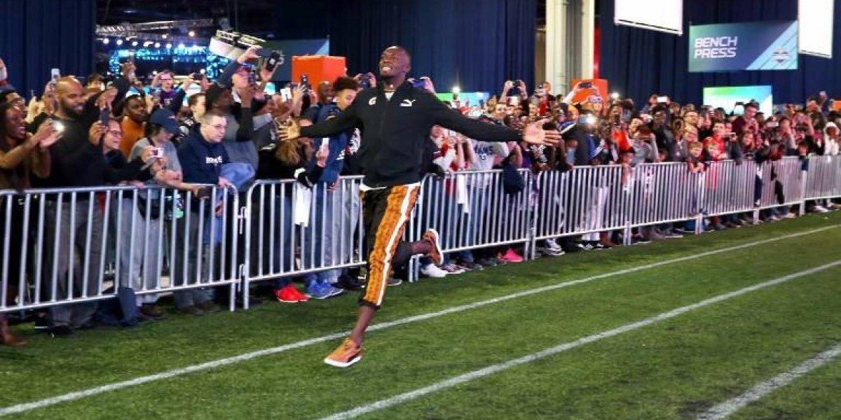Desde Atlanta: Usain Bolt iguala un récord y no descarta jugar un día en el Super Bowl