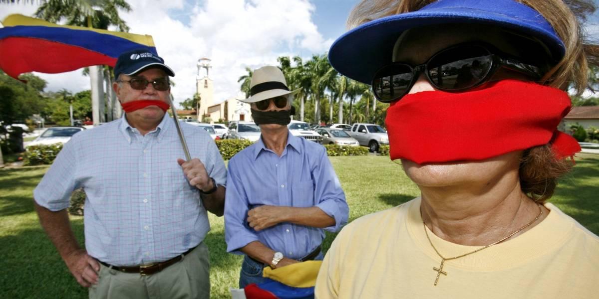 Miles de venezolanos en Miami respaldan a Guaidó