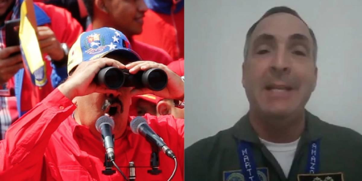Un general de la aviación venezolana dijo que el 90% de la Fuerza Armada no está con Nicolás Maduro