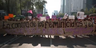 Marcha mujeres en la CDMX