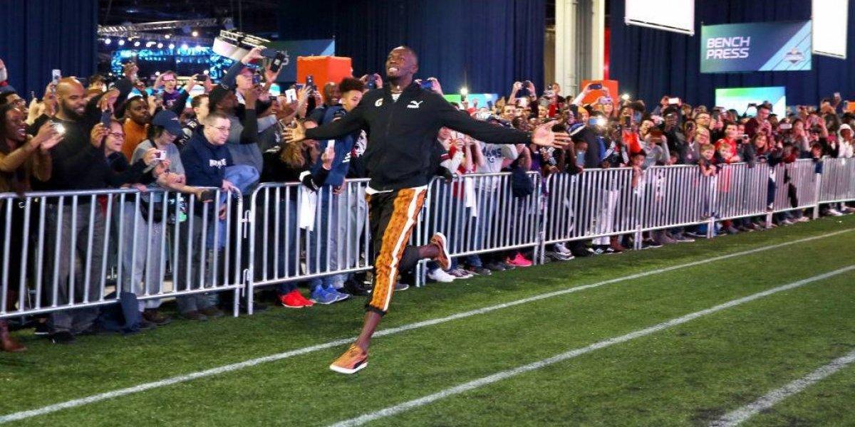 Usain Bolt iguala marca de la NFL previo al Super Bowl LIII