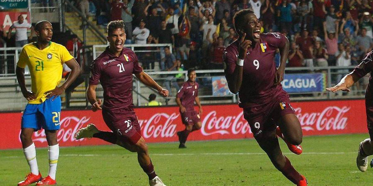 """El """"local"""" Venezuela se hizo gigante en el Sudamericano Sub 20 para superar a Brasil"""