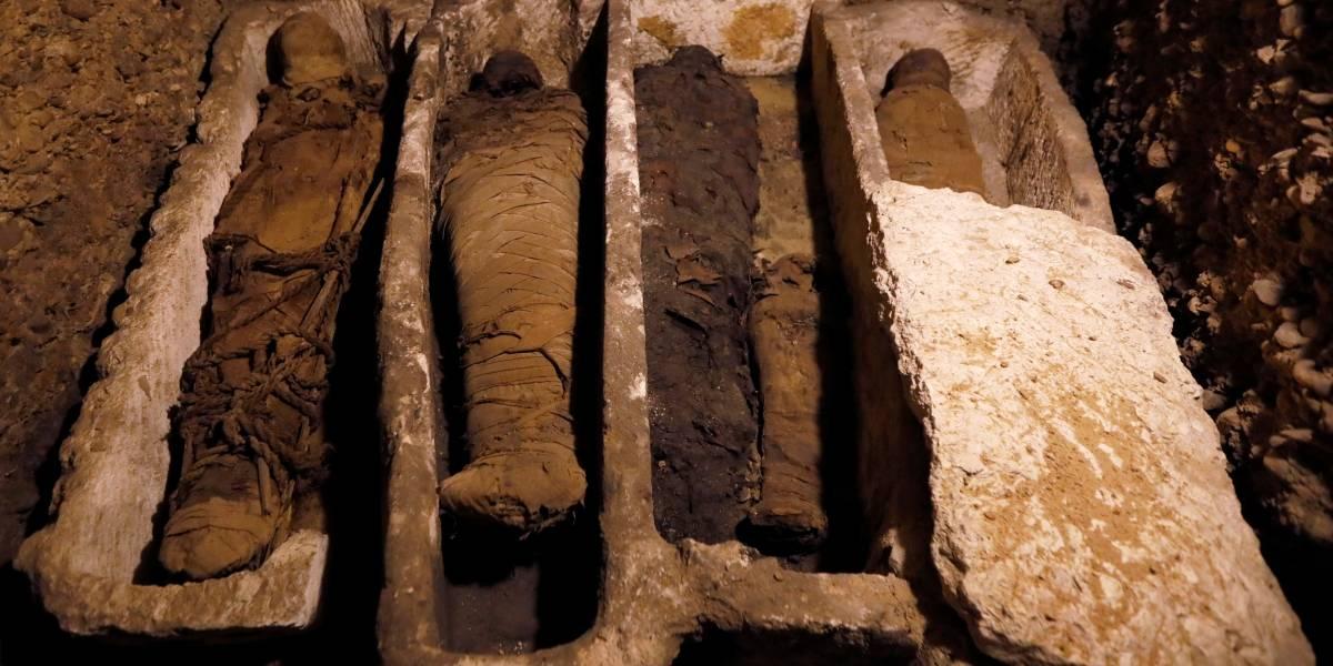 Exploradores encontram tumba com 40 múmias no Egito; veja fotos