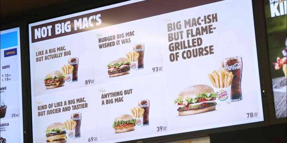 """McDonald's pierde la marca """"Big Mac"""" y Burger King saca sus propias versiones de la famosa hamburguesa"""