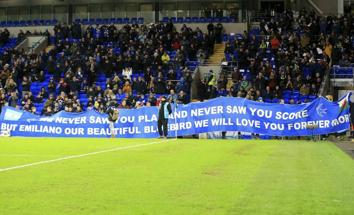 homenaje a Emiliano Sala en el estadio del Cardiff City AP