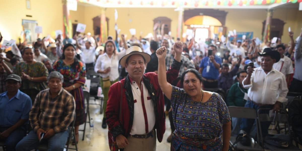 URNG-Maíz proclama a su binomio presidencial