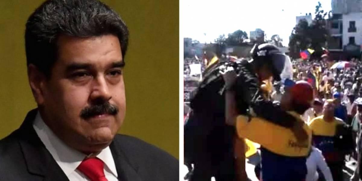 Policía venezolana desobedeció a Maduro con estos actos que son virales
