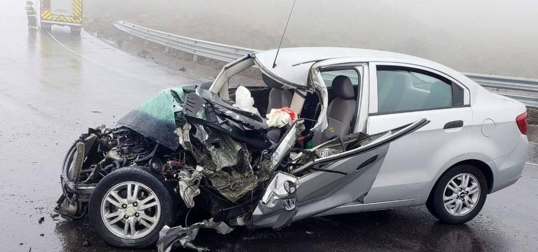 Tres heridos en accidente de tránsito en la vía Pifo-Papallacta BOMBEROS QUITO