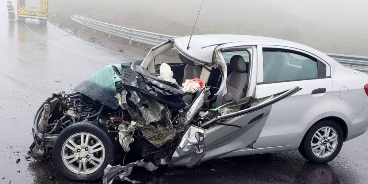 Accidente de tránsito en la vía Pifo-Papallacta deja heridos