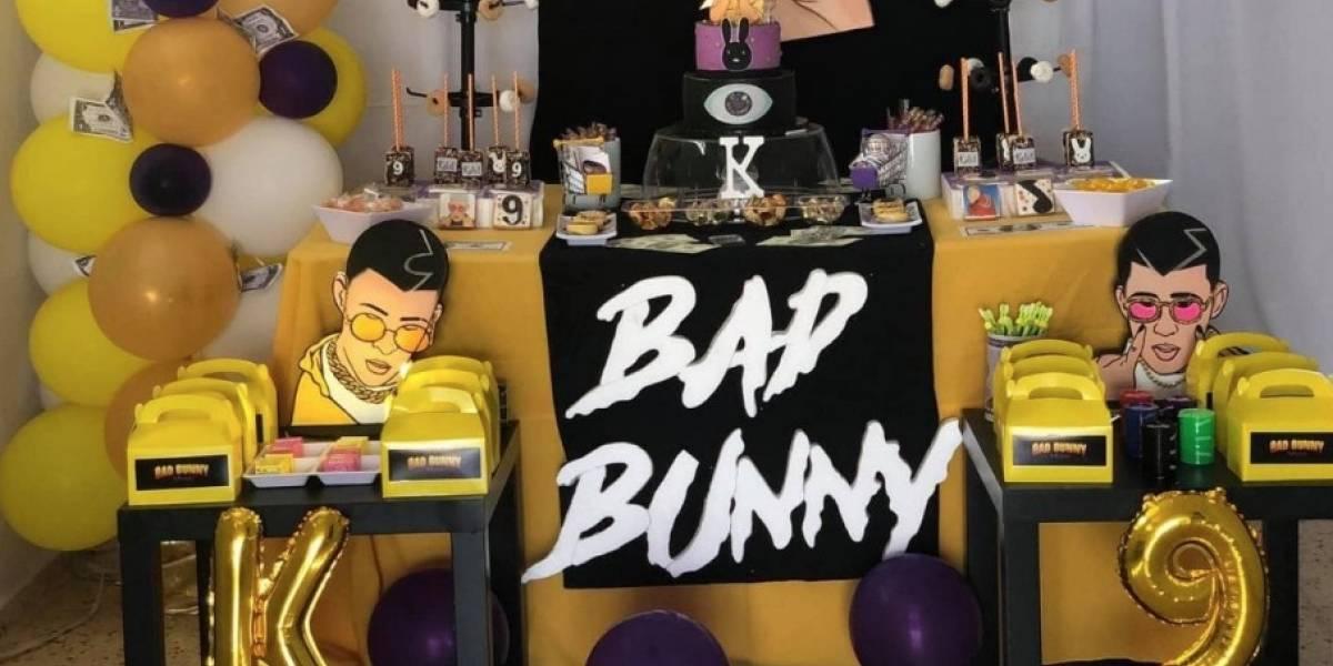 Niño celebra su cumpleaños al estilo de Bad Bunny y desata la locura en redes sociales