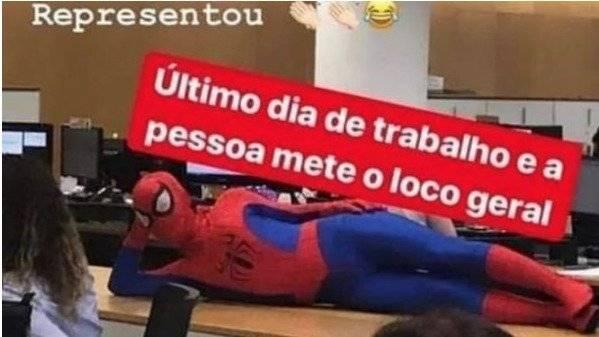 Viral: Sujeto renunció a su trabajo y fue su último día fue disfrazado de Spider- Man