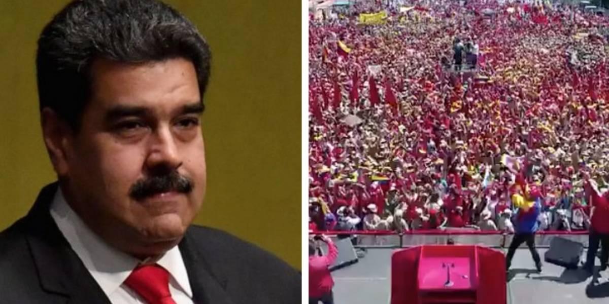 ¿Maduro engañó y mostró una marcha multitudinaria a punta de mentiras?