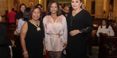 Zoila Puello, Marivell Contreras y Jatna Tavarez