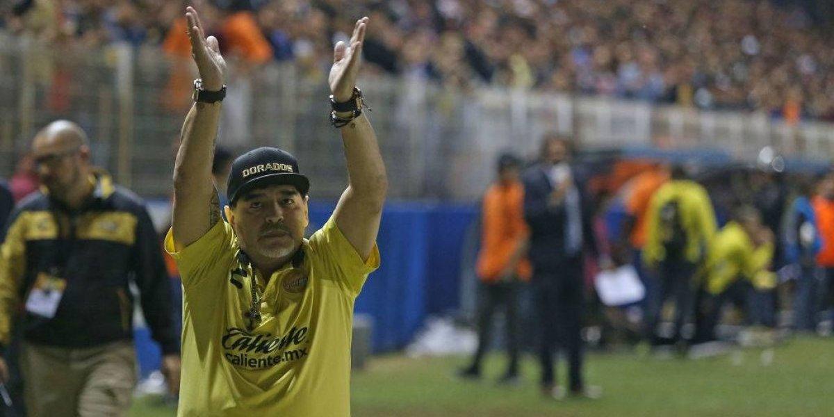 """Maradona en su peor momento al mando de Dorados: """"Vayan a llorar a un velorio muchachos, esto es fútbol"""""""