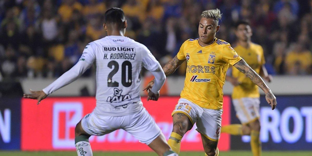 Tigres de Eduardo Vargas venció al Santos Laguna de Diego Valdés en la Liga MX