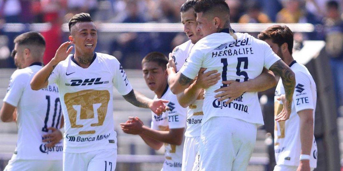 Felipe Mora y Martín Rodríguez jugaron en empate de un Pumas que sigue sin ganar