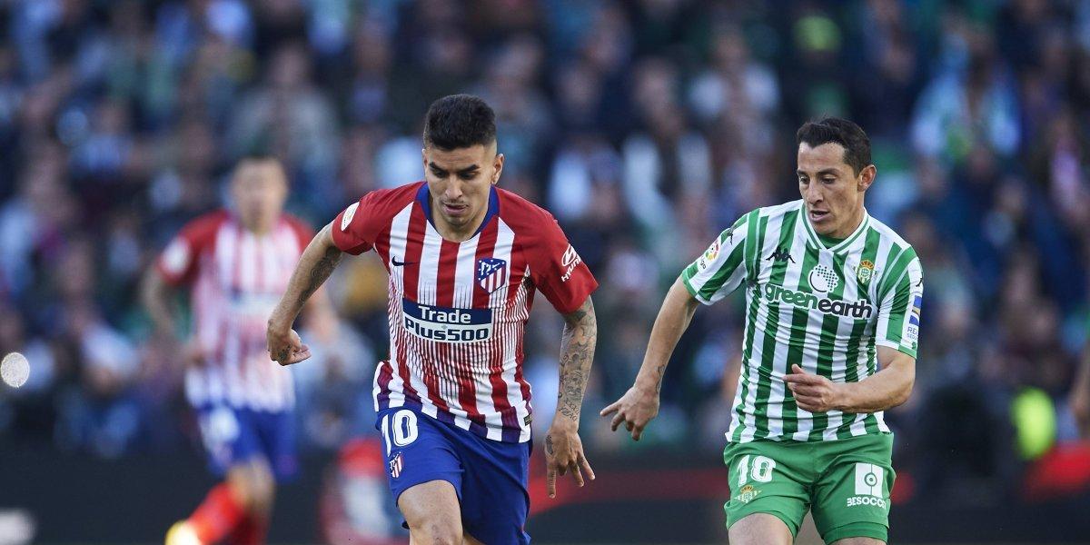 Lainez el gran ausente en la victoria del Betis ante el Atlético de Madrid