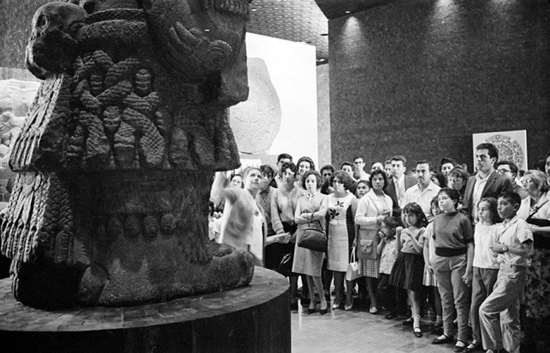 Visitantes del Museo Nacional de Antropología. Foto: Cortesía INAH