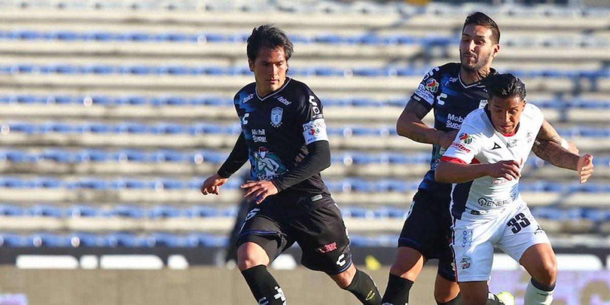 Lobos BUAP y Pachuca empatan 1-1 en un flojo partido