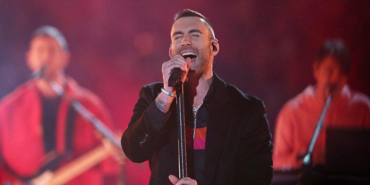Así fue la presentación de Maroon 5 en el medio tiempo del Super Bowl LIII