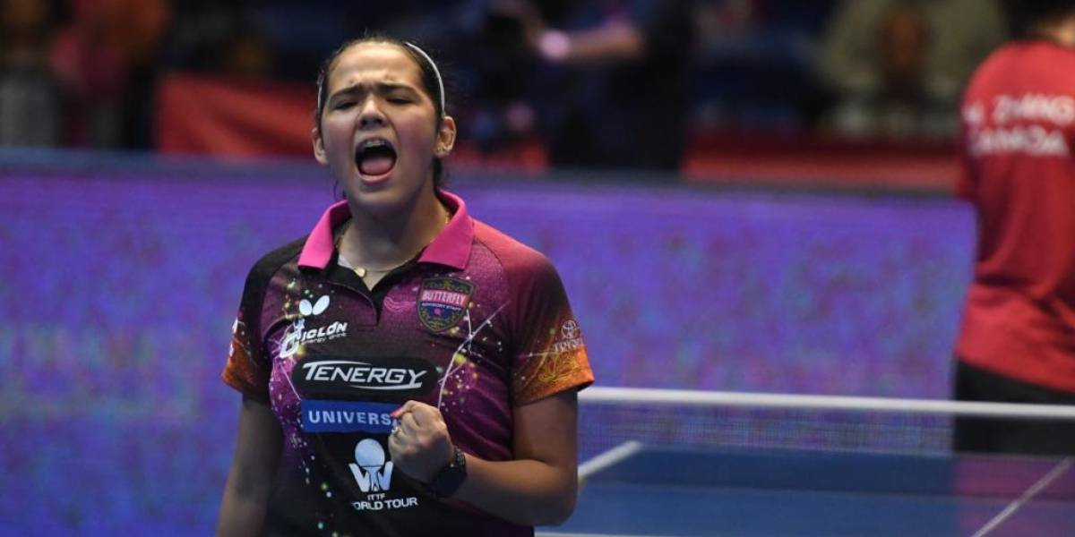 Tenimesista Adriana Díaz clasifica a la final de la Copa Panamericana