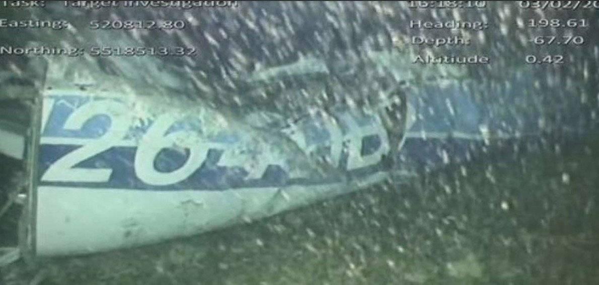 La primera imagen submarinas del hallazgo del avión en el que viajaba Emiliano Sala