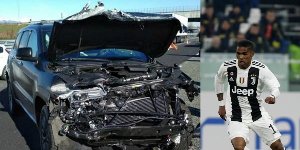 Douglas Costa sale ileso de un accidente