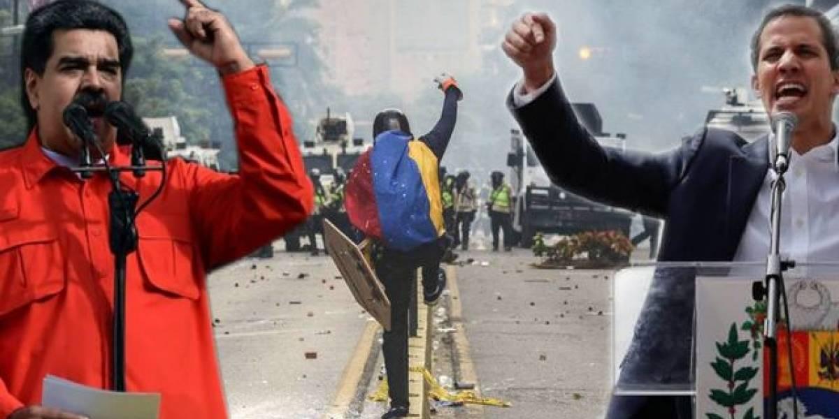 Maduro le pide ayuda a Dios mientras Guaidó la recibe de los europeos