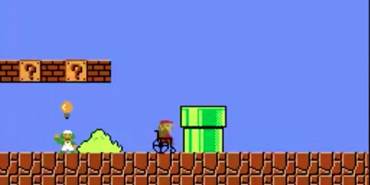 Conadi demuestra cómo sería un Mario Bros inclusivo si el personaje usara silla de ruedas