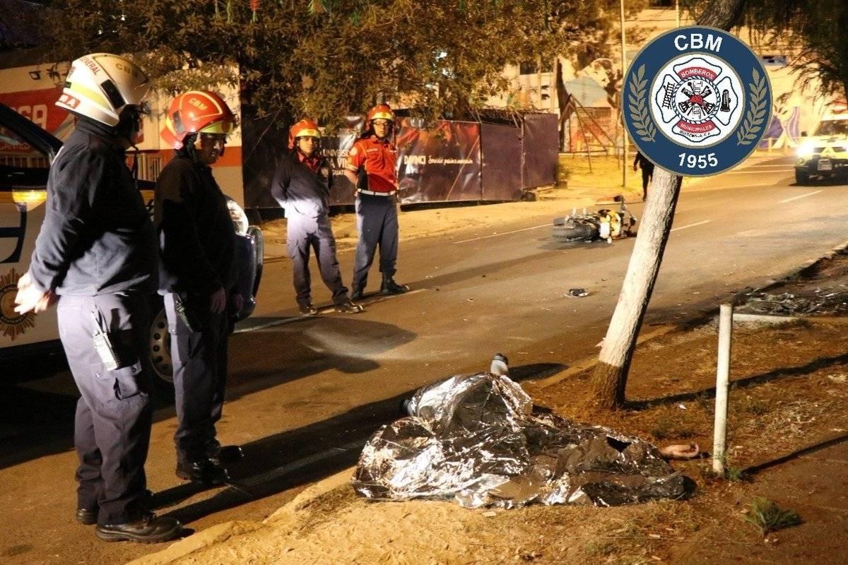 motorista muere en accidente en zona 4