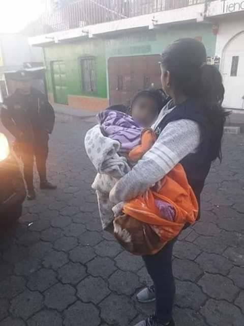 niña de dos años rescatada en Chimaltenango por maltrato