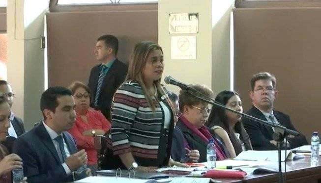 La abogada Verónica Ponce, representante de las artistas, expone en vista pública