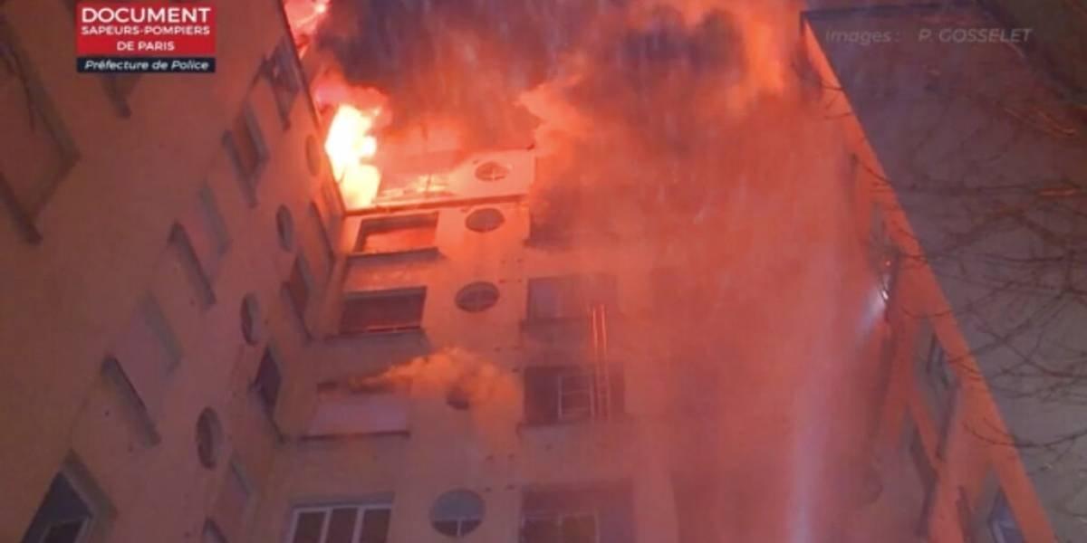 Reportan muertos tras incendio en París