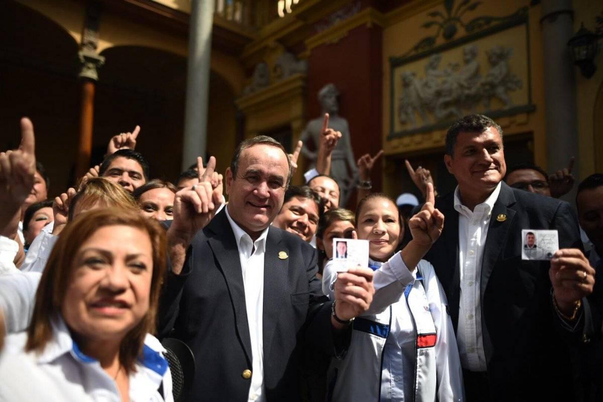 Alejandro Giammattei y Guillermo Castillo es el binomio presidencial del partido Vamos. Foto: Edwin Bercián
