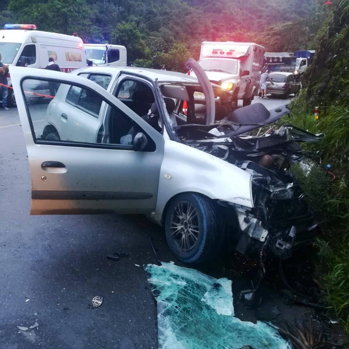 Accidente en la vía Calacalí- Los Bancos