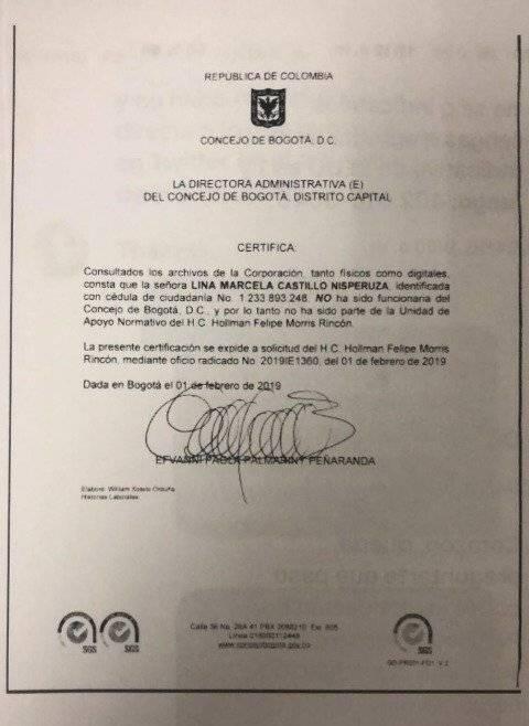 Lina María Castillo.