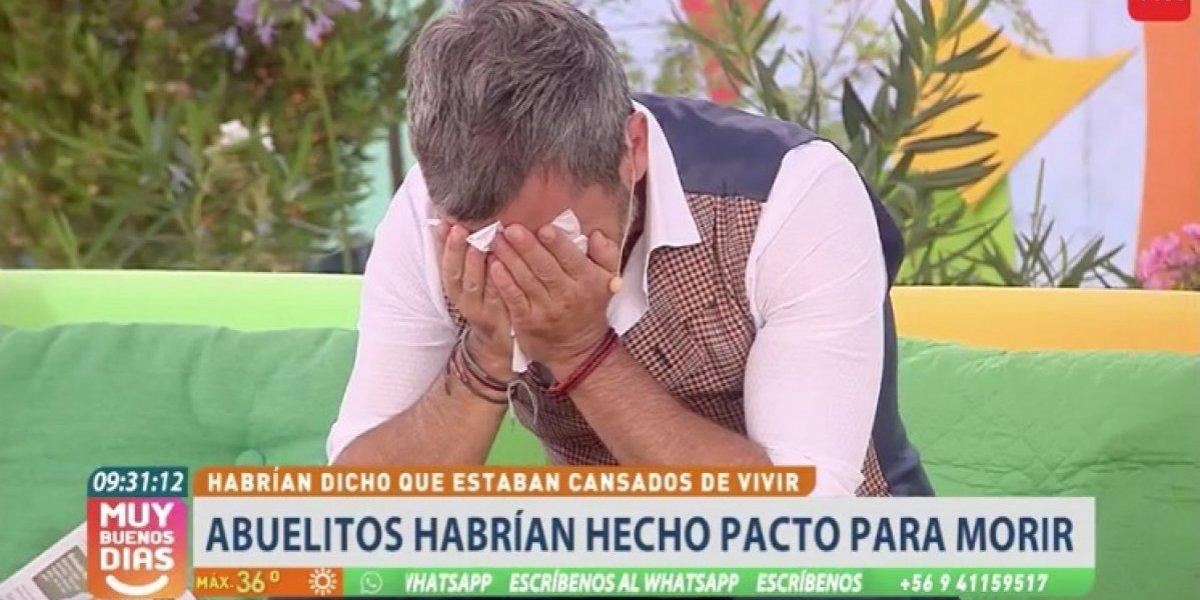 Martes triste en el matinal de TVN: panelistas se quebraron al aire por abuelitos que pactaron morir