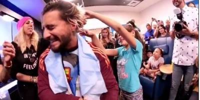 Maluma visita a niños con cáncer