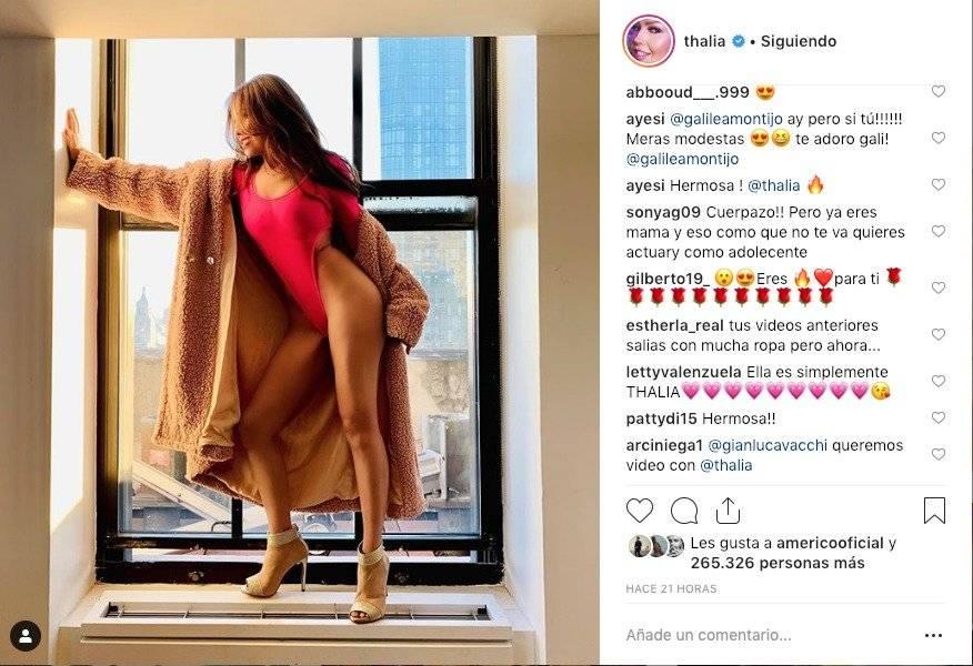 Thalía mostró más que su entrepierna con su diminuto traje de baño