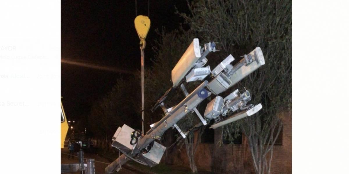 Distrito retiró antenas ilegales que invadían el espacio público en Bogotá