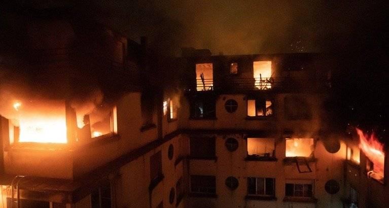 Incendio París