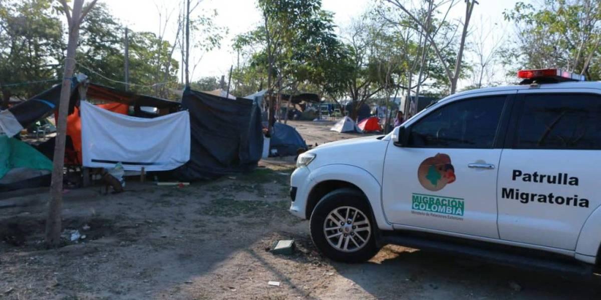 Desalojaron a más de cien familias venezolanas en Barranquilla