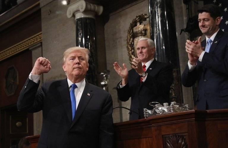 Donald Trump pronuncia su discurso sobre el Estado de la Unión 2018