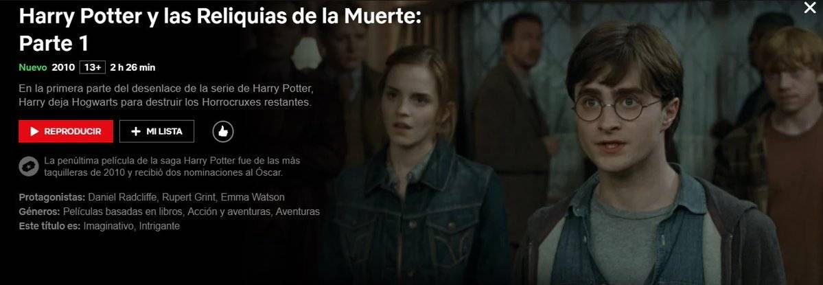 maratón de Harry Potter Netflix