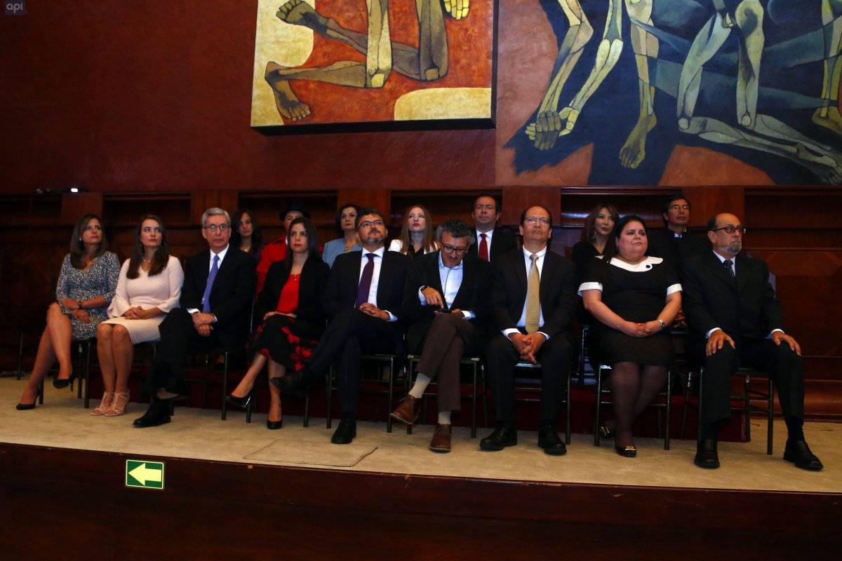 Posesión de los Jueces de la Corte Constitucional en la Asamblea Nacional del Ecuador